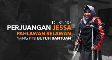 Bantu Pengobatan Jessa, Pahlawan yang Patah Tulang