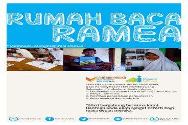 Library for Ramea Kids (Rumah Baca Ramea)