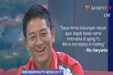 #RioHaryantoF1 - Indonesia Menuju Formula 1