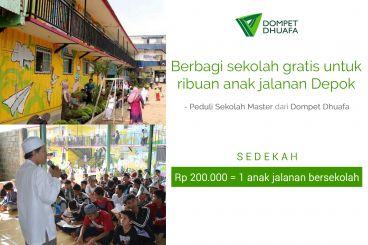 Berbagi Sekolah Gratis Untuk Anak Jalanan Depok