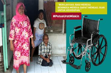 #PutusUratMiskin Bantu Kursi Roda Untuk Hanafi