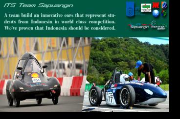 Sapuangin, Mobil Formula Pertama Indonesia