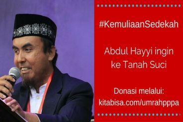 #KemuliaanSedekah - Abdul Hayi ingin ke Tanah Suci