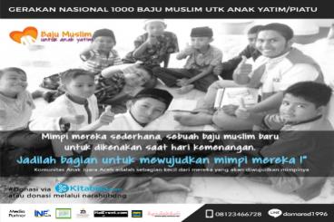 GerakanNasional 1000 Baju Muslim untuk Anak Yatim