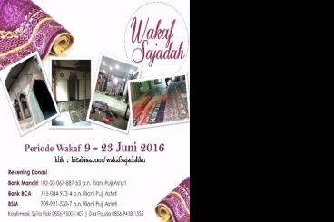 Wakaf Sajadah untuk musholla di jabodetabek