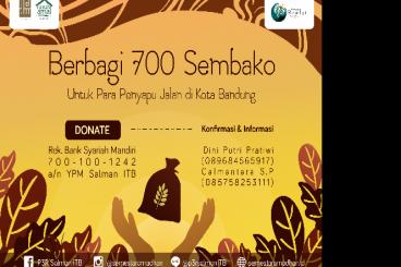 Sembako untuk 700 Penyapu Bandung #PatunganTHR