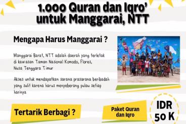 1000 Qur'an & Iqro untuk Manggarai Barat