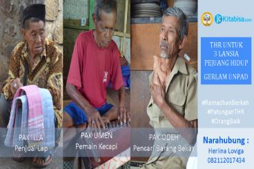 #PatunganTHR Untuk 3 Lansia Pejuang Gerlam Unpad