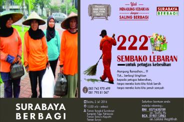 #PatunganTHR Untuk Penyapu Jalanan Surabaya