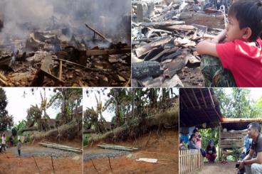 Bantu Bangun 2 Rumah Warga Musibah Kebakaran