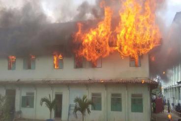Bantu Pemulihan Kebakaran Ponpes Istiqomah Kaltim