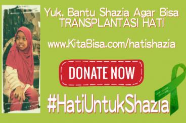 Yuk, Bantu Shazia Agar Bisa Transplantasi Hati