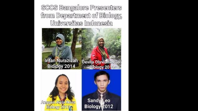 Biologi UI goes to SCCS Bengaluru, India