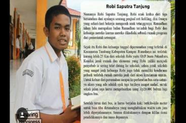 Sepeda Untuk Mujahid Kecil di SMP Juara Pekanbaru