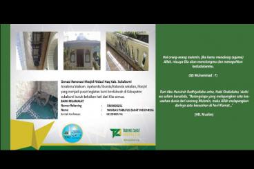 Donasi Renovasi Masjid Nidaul Haq Kab. Sukabumi
