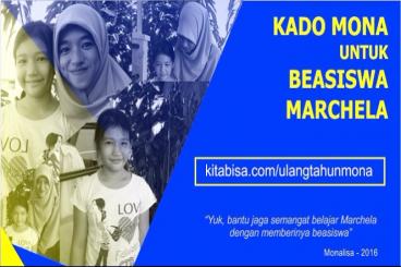 Kado Mona Untuk Beasiswa Marcela