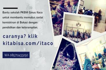 Bantu PKBM Ginus Itaco untuk Memutus Kemiskinan