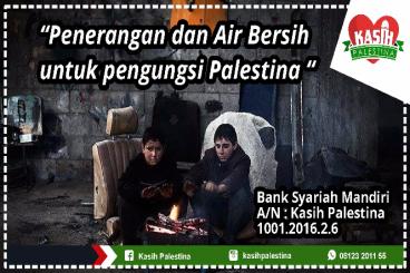Listrik dan Air Bersih untuk Pengungsi Palestina