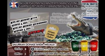 Aksi 50 Tong Sampah untuk Bersih Pantai