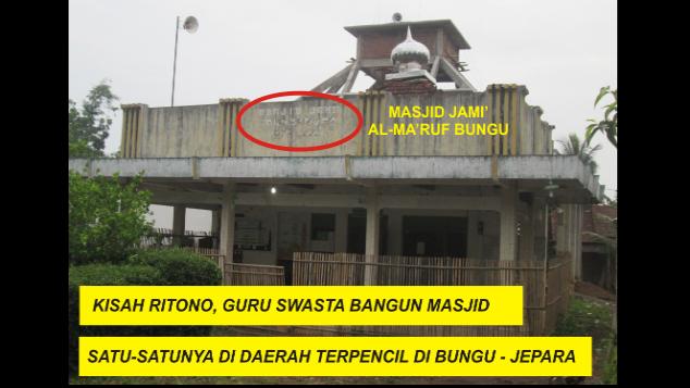 Bantu Ritono, Guru Swasta Bangun Masjid di Jepara