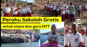 Perahu Sekolah Gratis untuk Anak Pulau Pura NTT