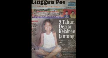 Bantu Putri 9 tahun kelainan jantung sejak lahir
