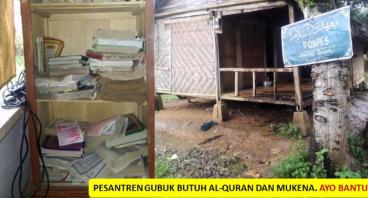 Pesantren Gubuk Bambu Butuh Al-Qur'an dan Mukena
