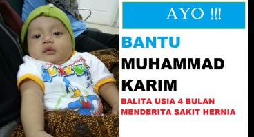 M Karim Balita (4 bln) Penderita Hernia Butuh Dana