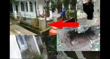 bantu  masjid yang terancam terbawa longsor