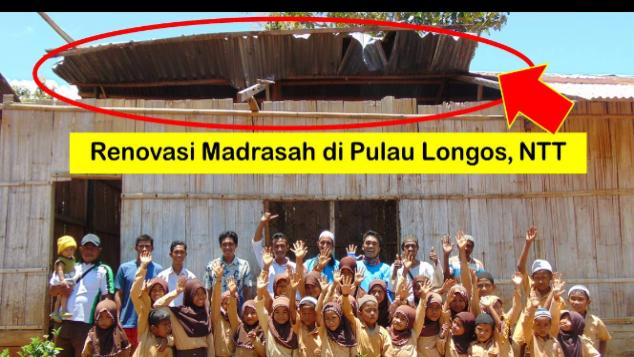 Renovasi Madrasah di Pulau Longos, NTT