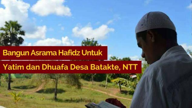 Bangun Asrama Hafidz Yatim dan Dhuafa