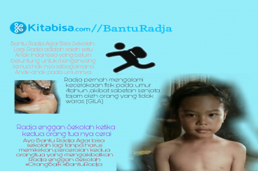 Bantu Radja agar sehat selalu & bisa sekolah lagi