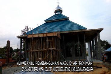 Pembangun masjid terhenti karna kehabisan dana