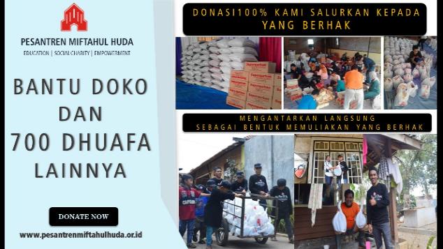 Bantu DOKO & 700 Dhuafa lainnya di Garut