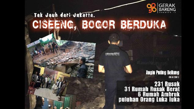Warga Ciseeng Bogor Terkena Puting Beliung