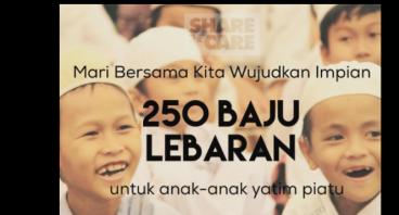 250 Baju Lebaran Untuk Anak Yatim Piatu Dumai