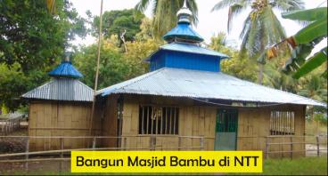 Bangun Perluasan Masjid Bambu di Pulau Pantar, NTT