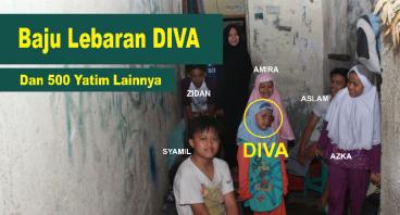 Baju lebaran untuk Diva dan 500 Yatim lainnya.