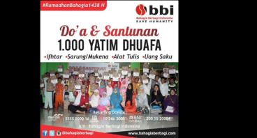 Do'a & Santunan 1000 Yatim Dhuafa