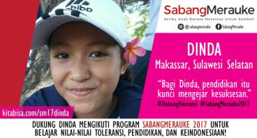 #DukungToleransi SabangMerauke 2017 - Dinda