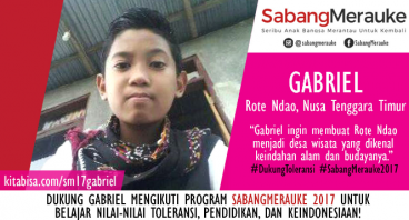 #DukungToleransi SabangMerauke 2017 - Gabriel