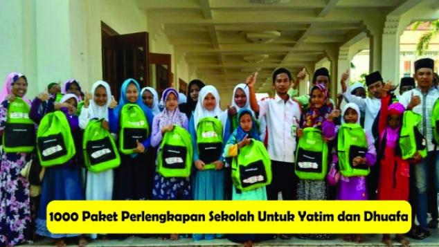 Tas Sekolah Untuk 1000 Anak Yatim dan Dhuafa