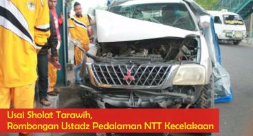 Rombongan Ustadz Pedalaman NTT Kecelakaan
