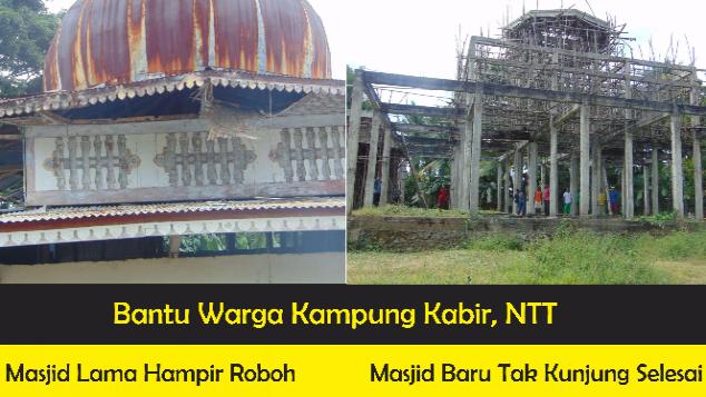 12 Tahun Pembangunan Masjid Tak Kunjung Selesai
