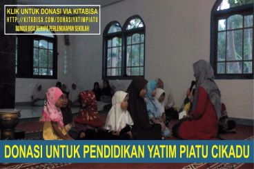 Bantu Pendidikan Yatim Piatu Cikadu