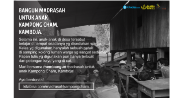 Bangun Madrasah untuk Anak Kampong Cham, Kamboja.
