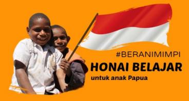 #BERANIMIMPI Bangun Honai Belajar Anak Papua
