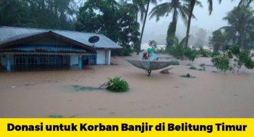 Bantuan untuk Korban Banjir Belitung Timur