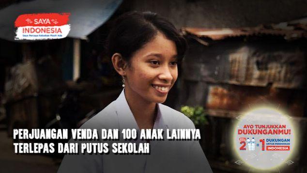 Bantu Venda & 100 Temannya Lanjut Sekolah