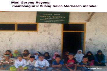 Mari Bantu Kekurangan dua ruang kelas madrasah